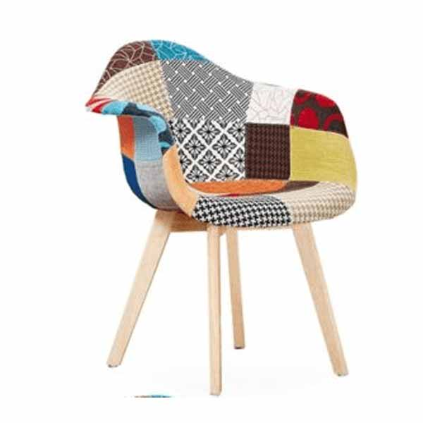William (with Arms) Fancy Patch Work Interior Chair Pakistan