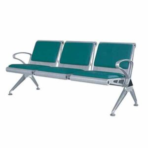 Waiting Chair Silver(PVC) 3 Seated Pakistan
