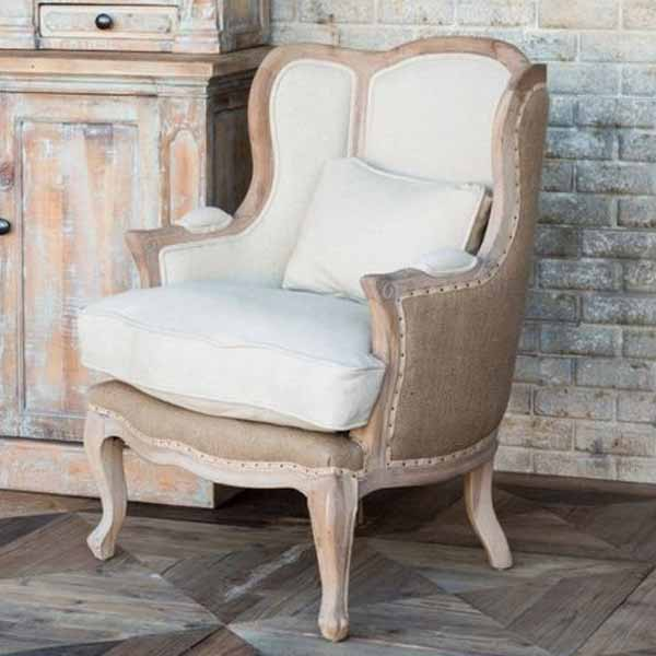 King White Accent Chair
