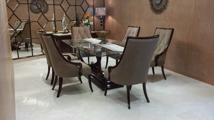 Randy Glass Dining Table Set