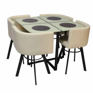Bannon White American Diner Table and Chairs