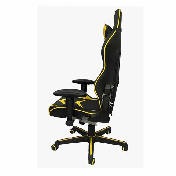 best design of gaming chair, black, yellow color is good for user in pakistan.