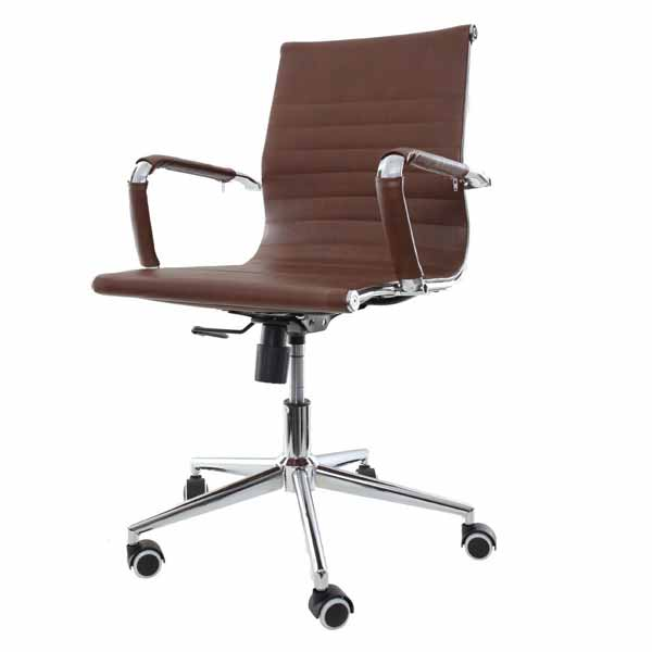 Theodore-EB Brown High Back Office Chair