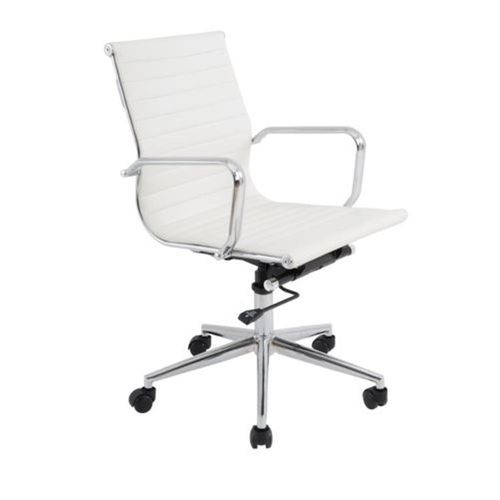Theodore-EB White Low Back Office Chair