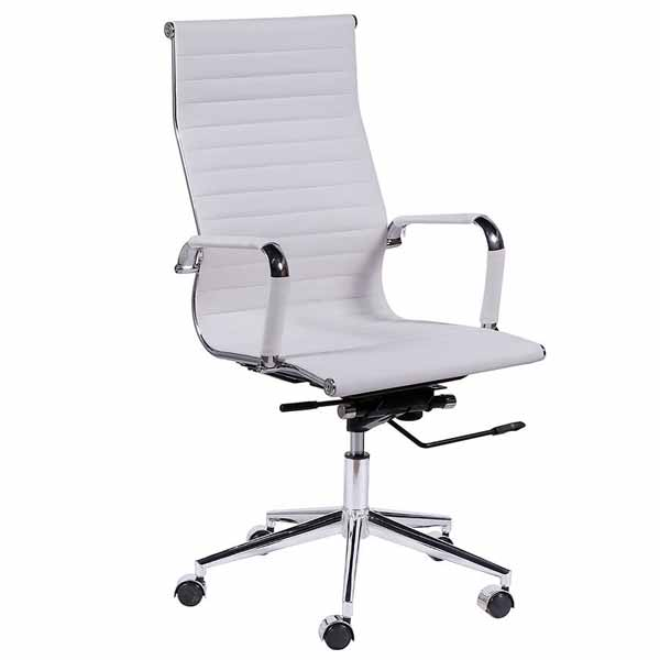 Theodore-EB White High Back Office Chair