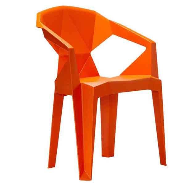 Stella Plastic Stackable Chair (Orange)