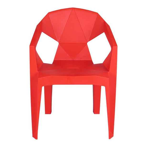 Stella Plastic Stackable Chair (Red)