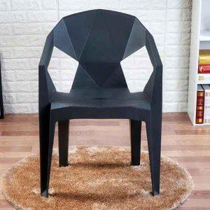 Stella Plastic Stackable Chair (Black)